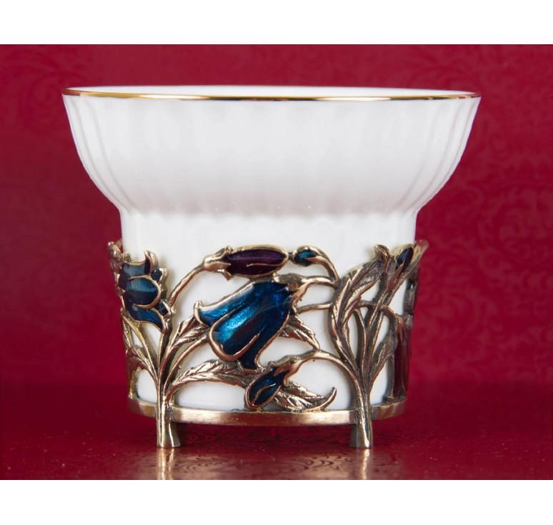Чашка фарфоровая Колокольчики(эмаль) в шкатулке