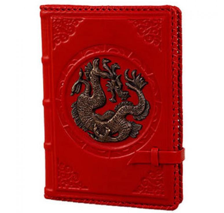 Ежедневник А5 «Дракон» красный