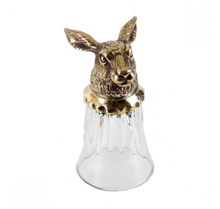 Стопка-перевертыш с головой животного Заяц в картонном футляре