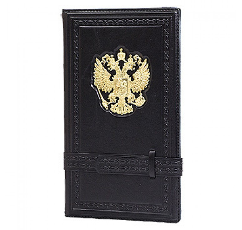 Визитница настольная «Россия златоглавая» черная