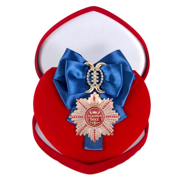 Большой Орден Золотой босс (синяя лента)