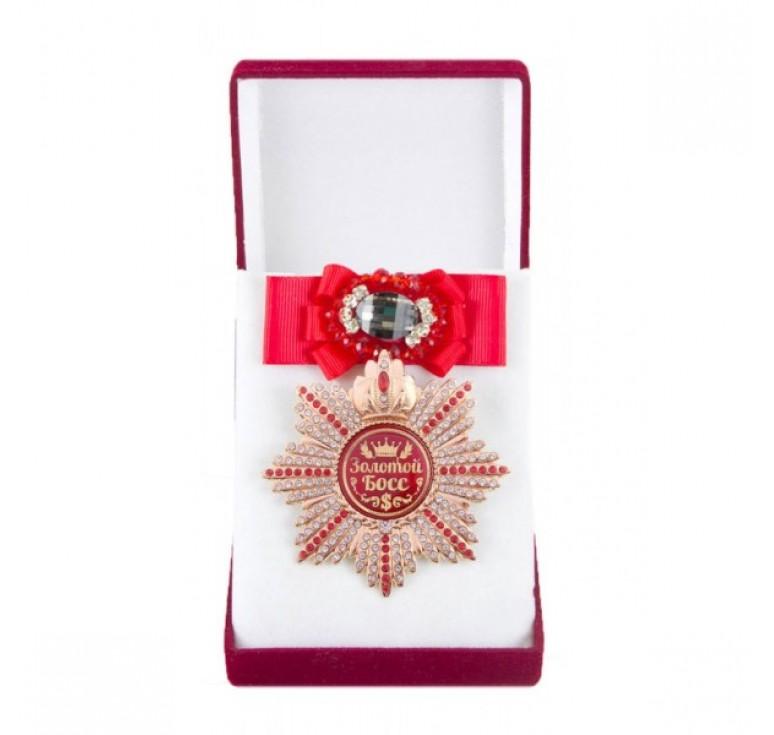 Большой Орден Золотой босс (красный бант, брошь)