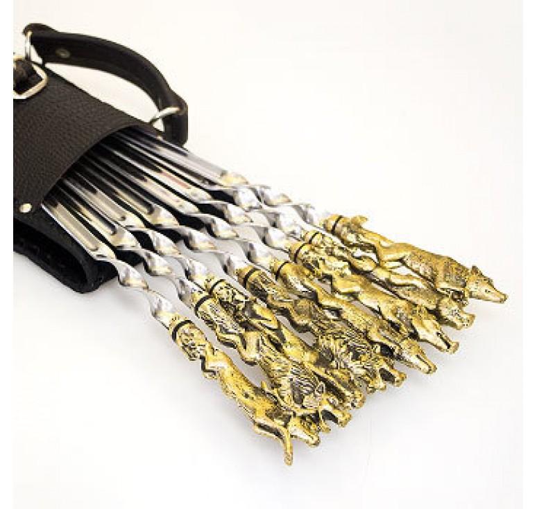 Шашлычный набор «Звери» на 8 шампуров