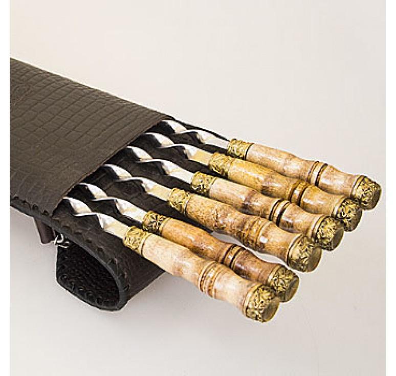 Шашлычный набор «Без клапана» на 6 шампуров