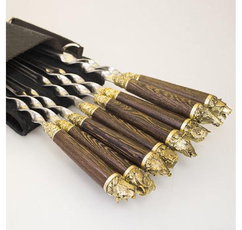 Шашлычный набор «Охота» на 8 шампуров