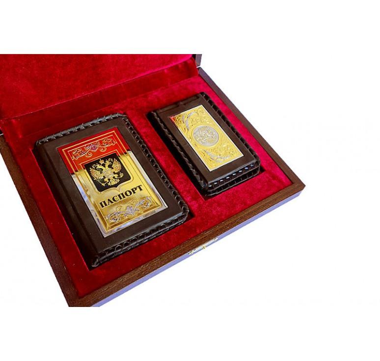 Набор «Обложка для паспорта, визитница»