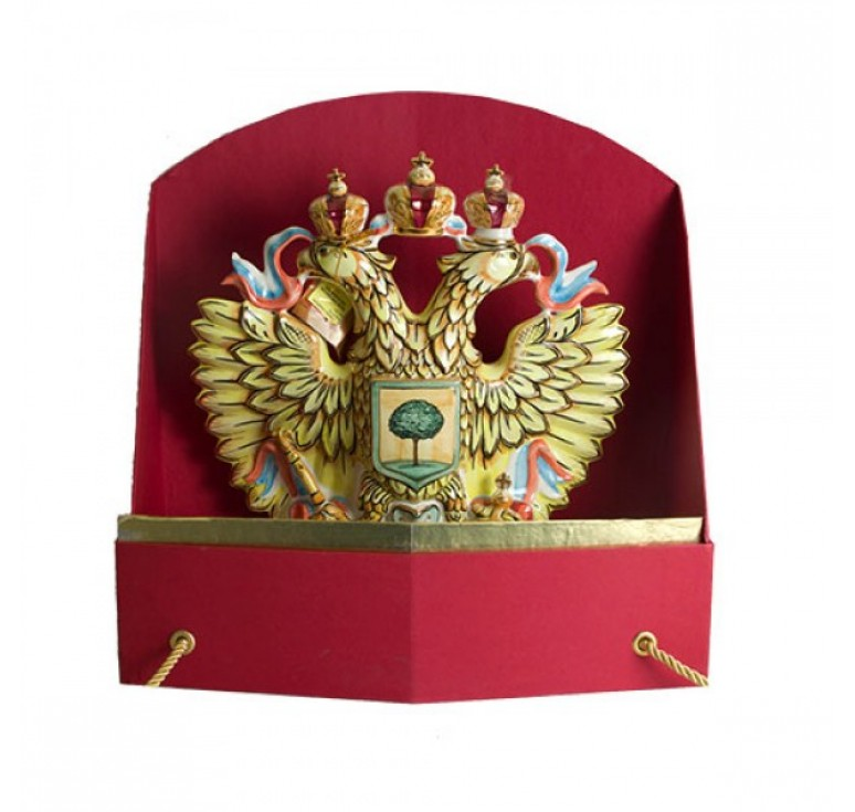 Штоф Орел цветной