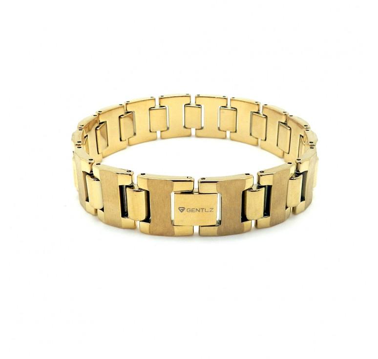 Мужской браслет из карбида вольфрама цвет золото