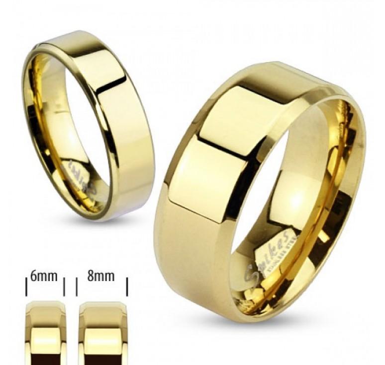 Мужское кольцо из стали цвет золото. Могут быть использованы как парные кольца