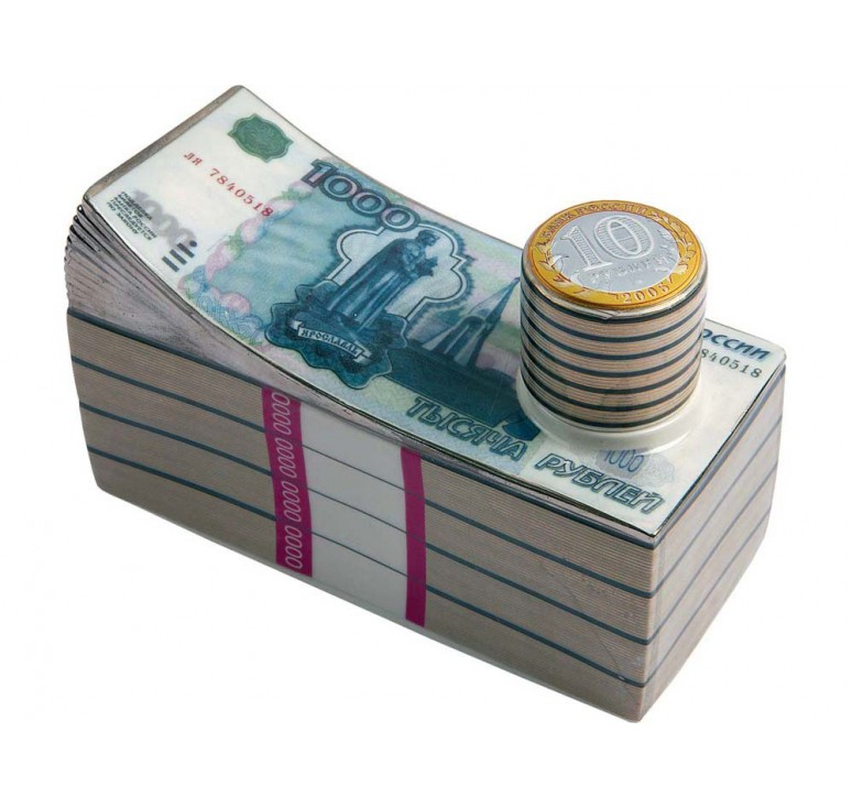 VIP Штоф для водки «Российские рубли»