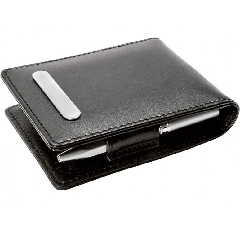 Набор: блокнот, ручка шариковая, зажим для денег