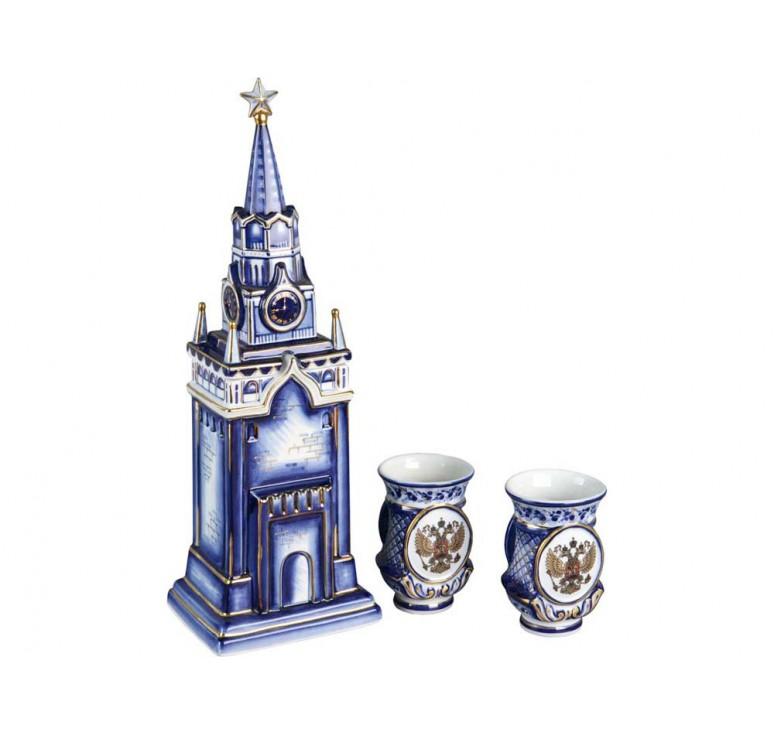 VIP Набор «Кремль»: штоф для водки с двумя стопками