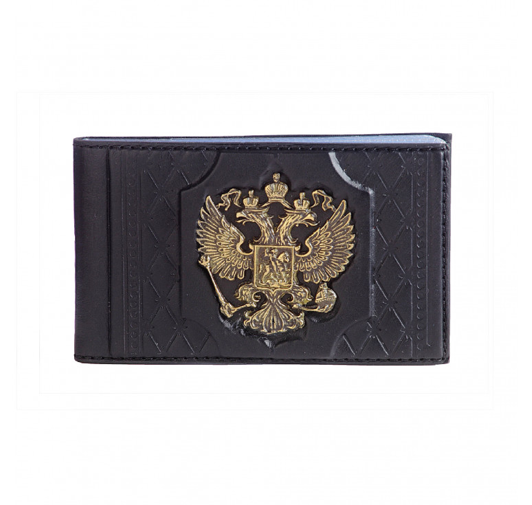 Визитница карманная «Федерация» с латунным орлом