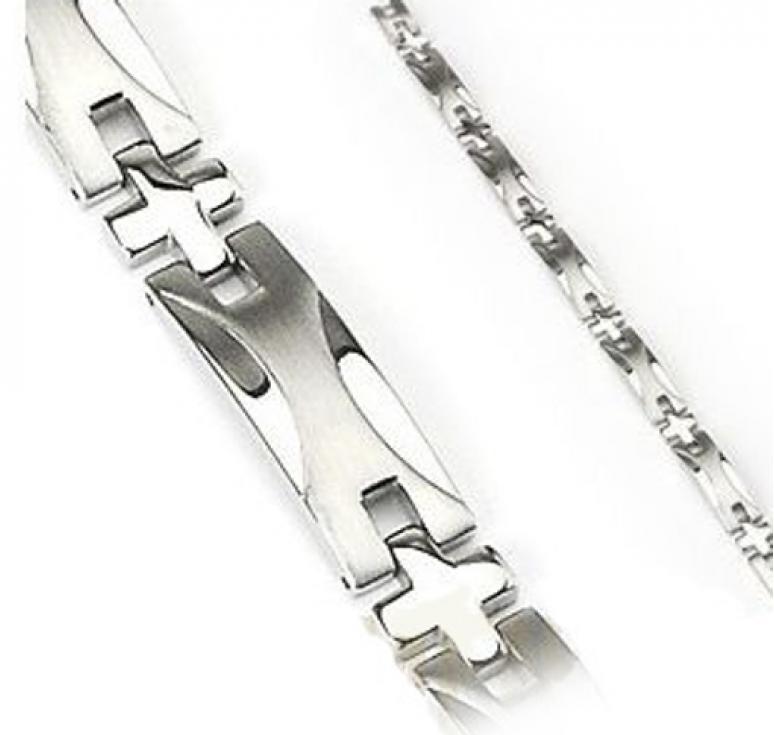 Браслет с геометрическим узором ювелирная сталь