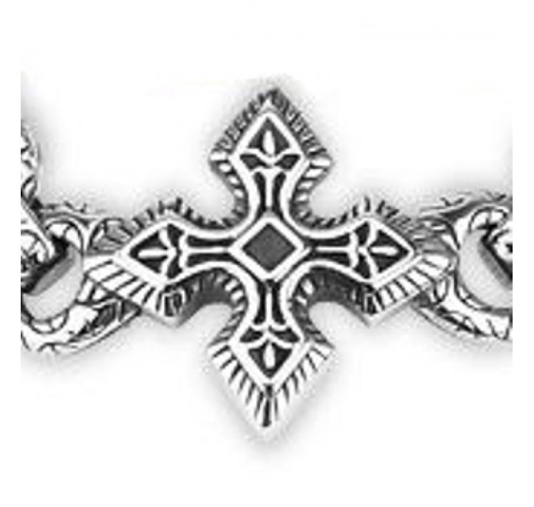 Браслет из ювелирной стали с кельтским крестом