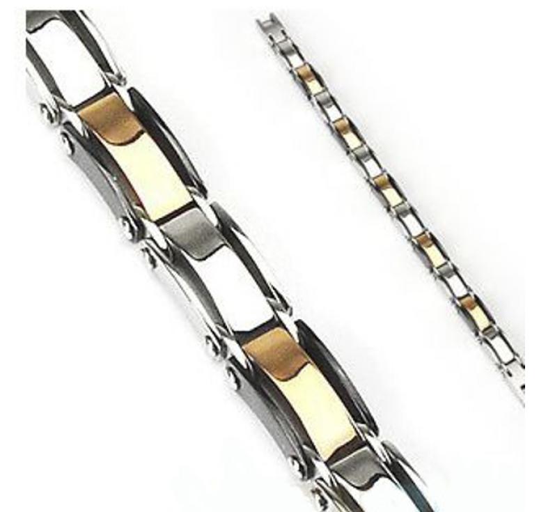 Мужской браслет из полированной ювелирной стали