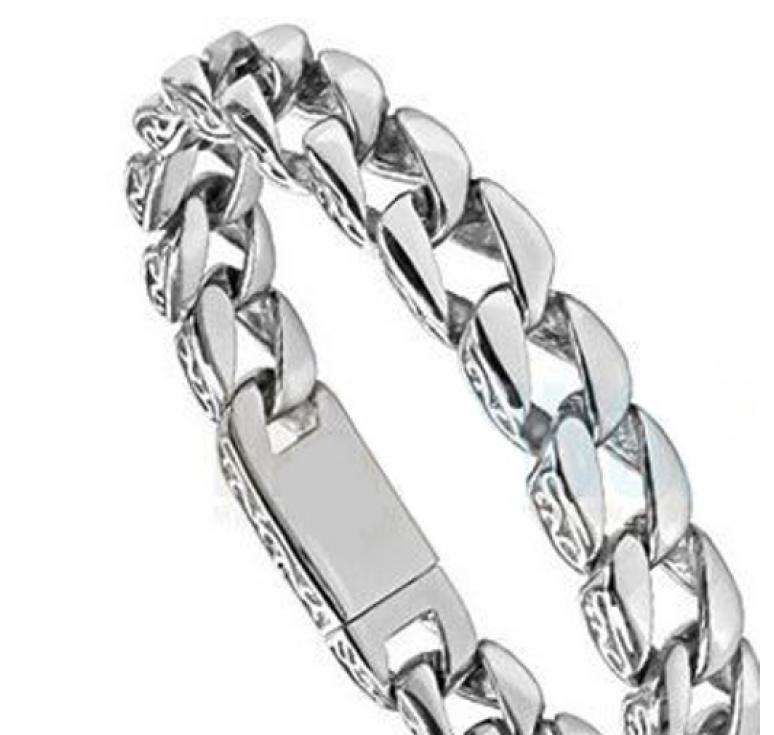 Мужской браслет из ювелирной стали в виде цепи