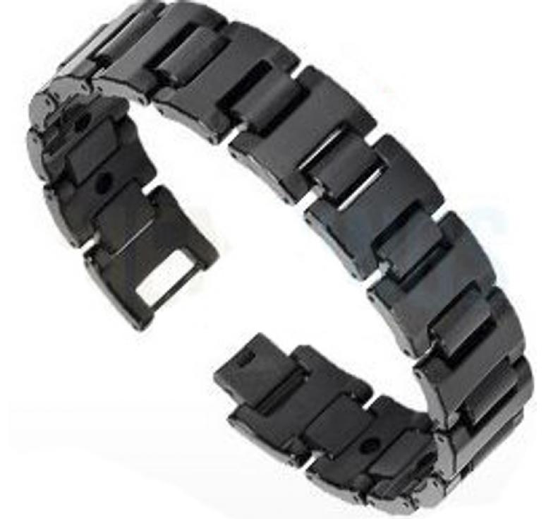 Черный мужской браслет из карбида вольфрама