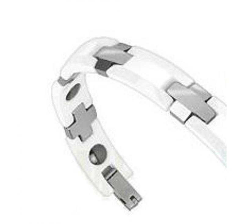Белый мужской браслет из карбида вольфрама