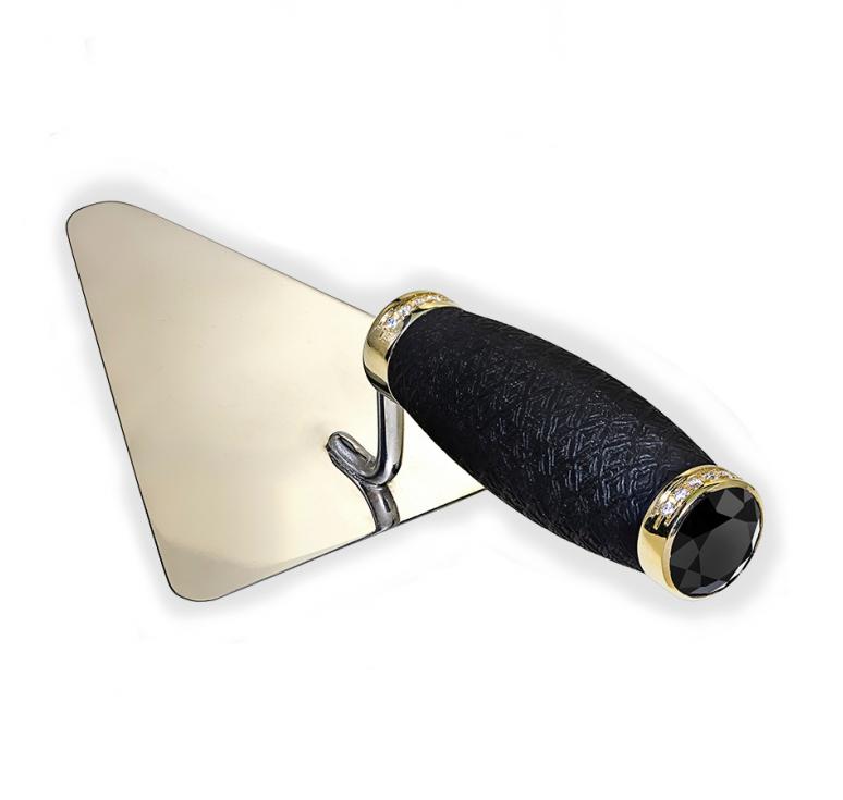 VIP-подарок для строителя - мастерок из золота с инкрустациями