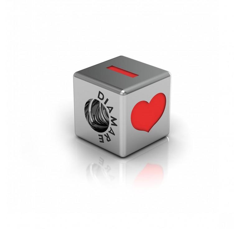 Сердце-кубик