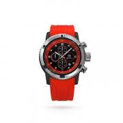 Часы-хронограф мужские коллекция Casual Sport, серебро 925, каучуковый ремешок