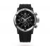 Серебряные мужские часы Sport  с каучуковым ремешком