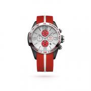 Fashion-sport мужские часы с каучуковым ремешком и серебром