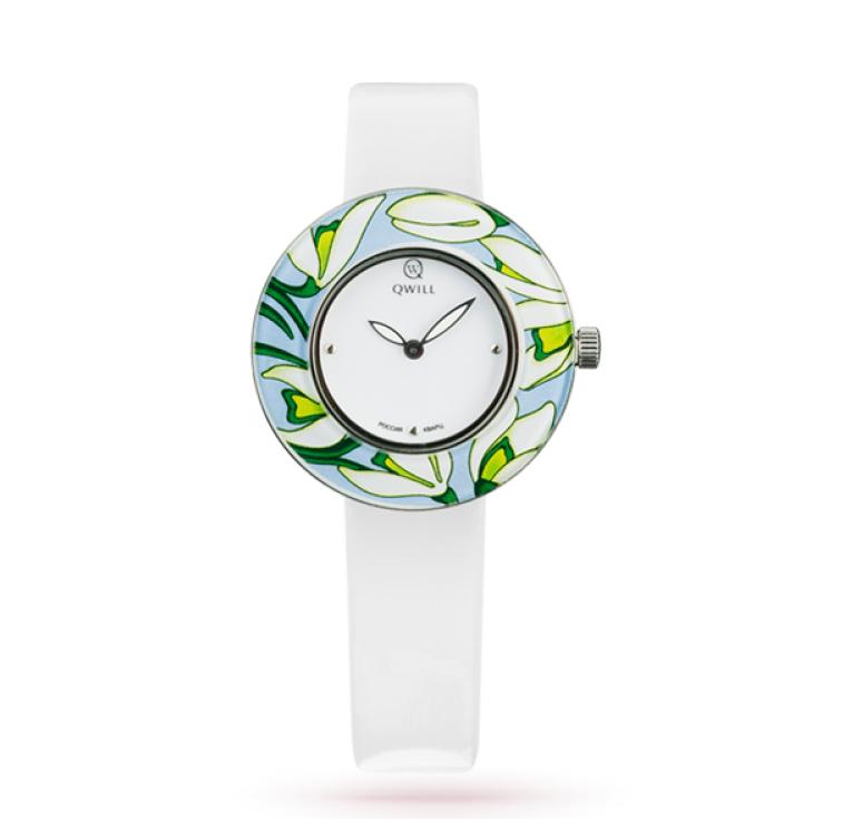 Часы серебряные женские Qwill fashion