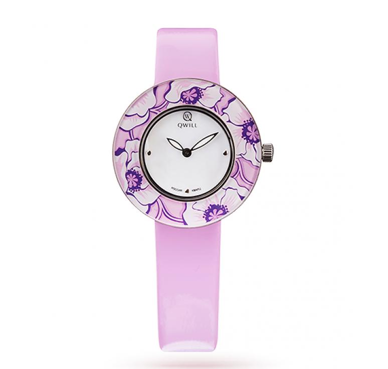 Часы женские коллекция Fashion, серебро 925, кожаный ремешок