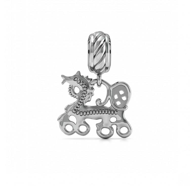 Конек-горбунёк - подвеска серебряная перлина