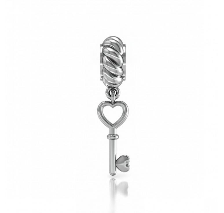 Шарм-подвеска серебряный ключик