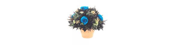 Букеты синих и голубых роз