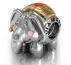 Серебряный шарм для браслетов в стиле пандора в виде собаки