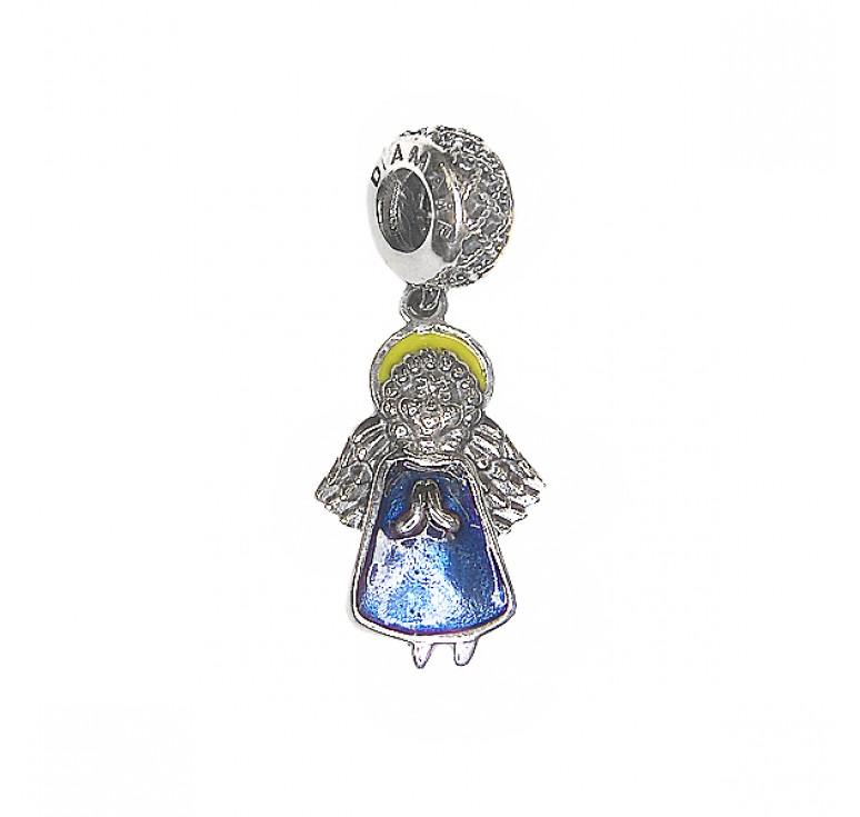 Шарм серебряный ангел