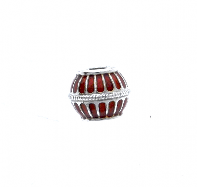 Шарм бусина в стиле пандора из серебра 925 пробы с эмалью