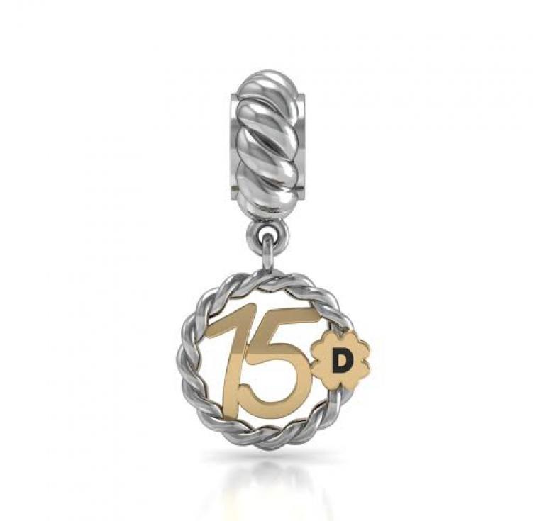 Подвеска -шарм серебряный в подарок девушке на 15 лет