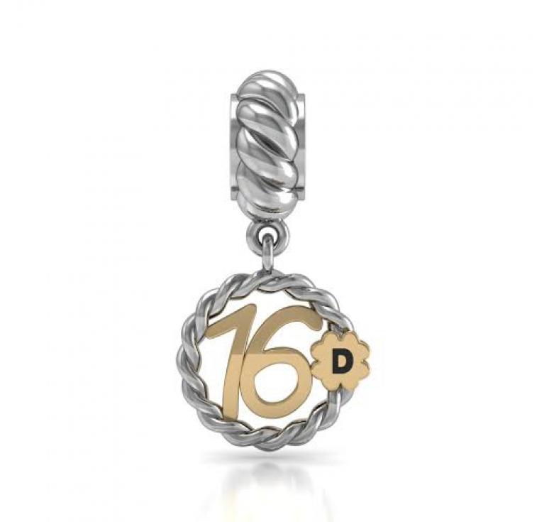 Подвеска -шарм серебряный в подарок девушке на 16 лет