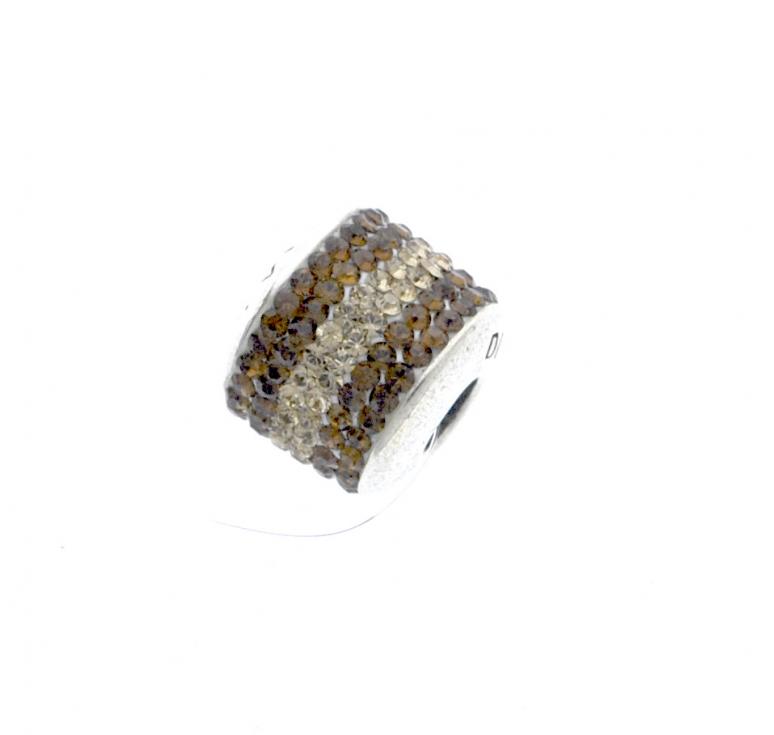Шарм из серебра 925 пробы с кристаллами Svarovski