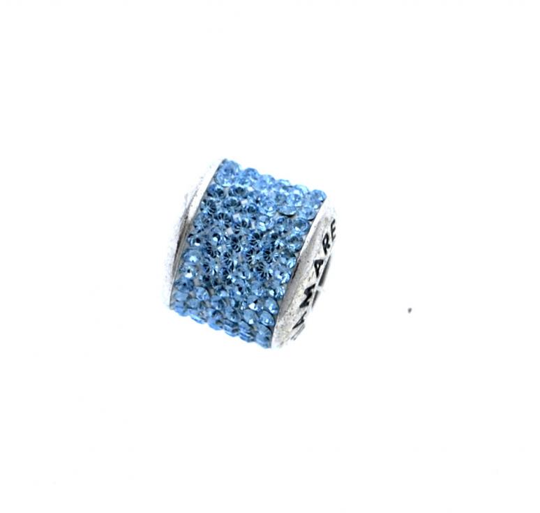 Серебряный шарм Diamare с кристаллами Svarovski (Сваровский)