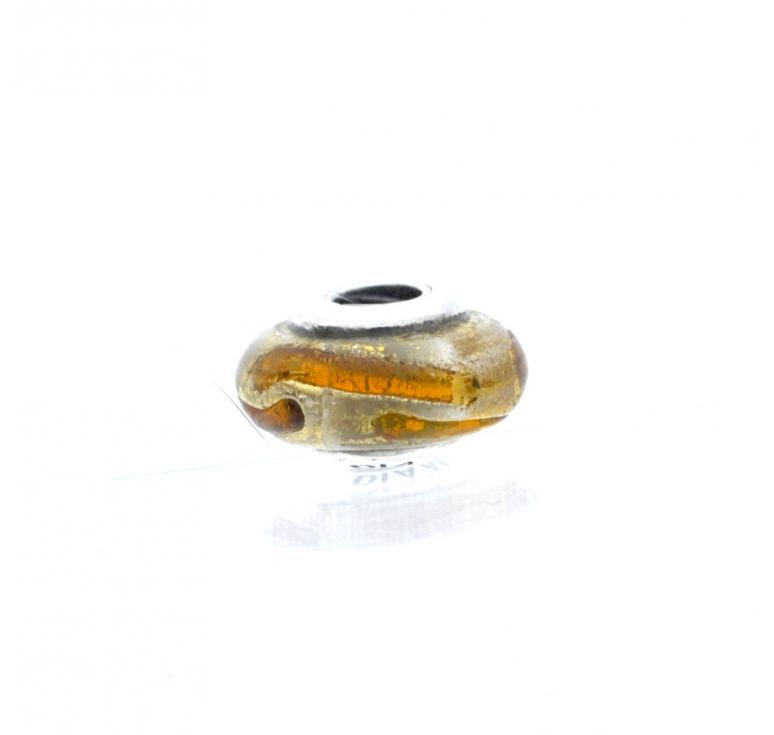 Бусина шарм из серебра 925 муранское стекло Diamare
