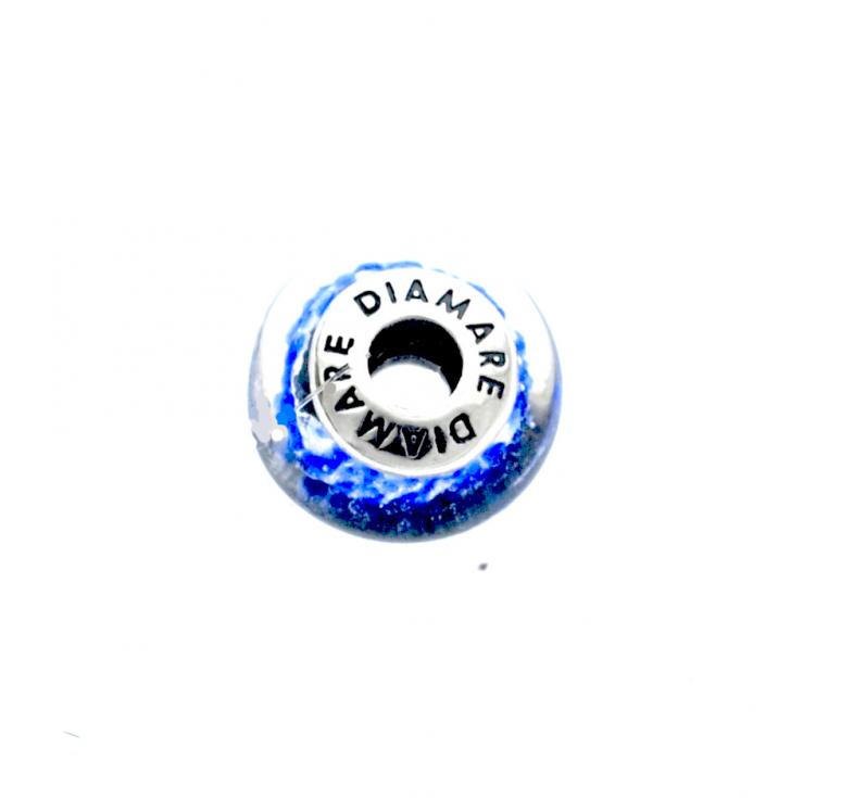Шарм из муранского стекла голубого цвета