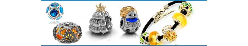 Шармы, подбор по видам, готовые серебряные браслеты в стиле пандора, браслеты для шармов