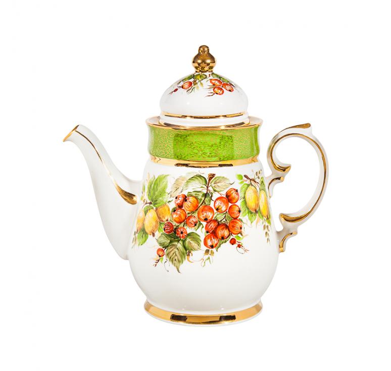 """Сервиз чайно-кофейный Чародейка """"Ягоды"""" краски, золото"""