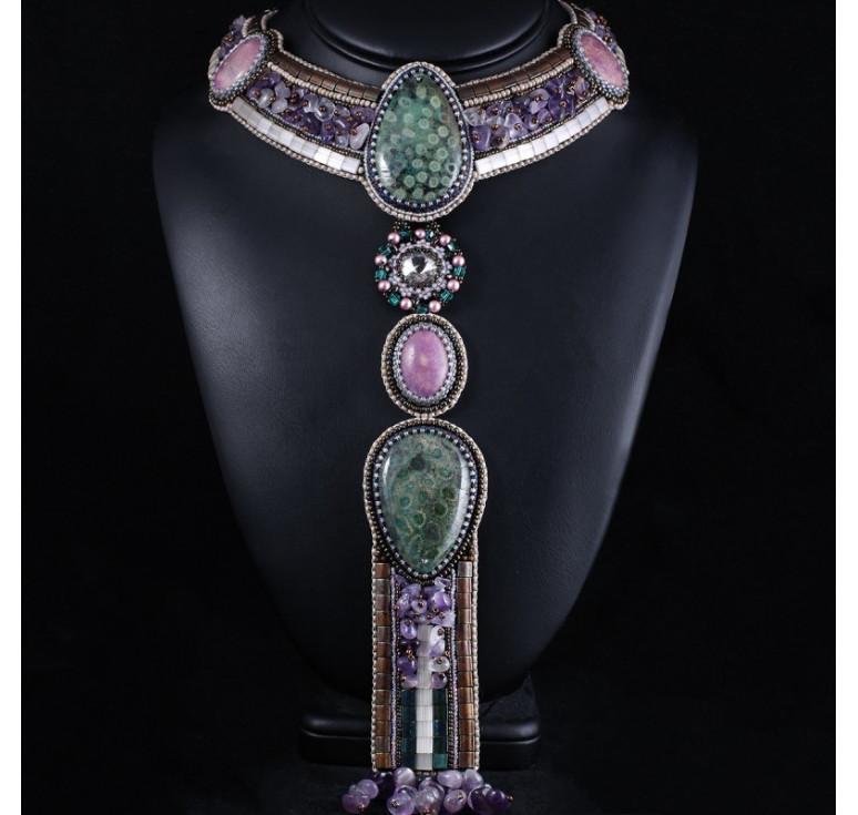Колье галстук-трансформер «Lilac Alien»