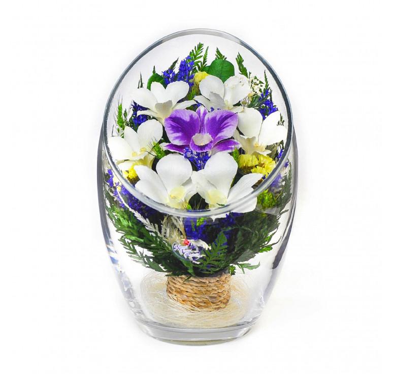 Композиция из натуральных орхидей