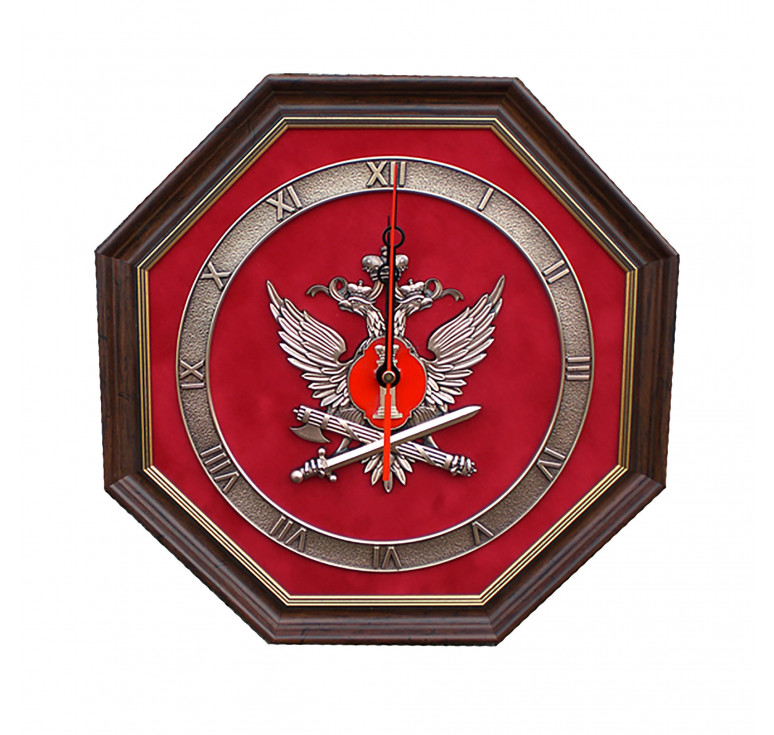 Настенные часы «Эмблема Федеральной службы исполнения наказаний РФ» (ФСИН России)