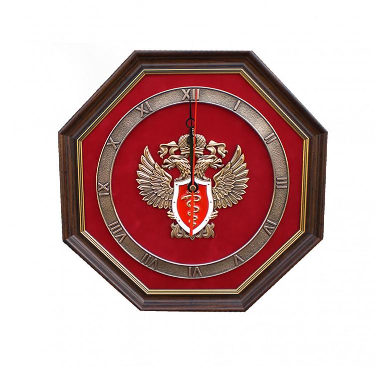 Настенные часы «Эмблема Федеральной службы РФ по контролю за оборотом наркотиков» (ФСКН России)