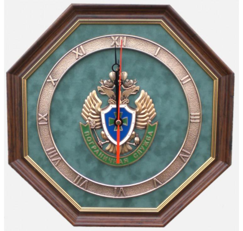 """Настенные часы """"Эмблема Пограничной службы России"""""""