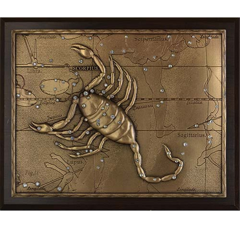 Панно из металла на стену «Скорпион» малое